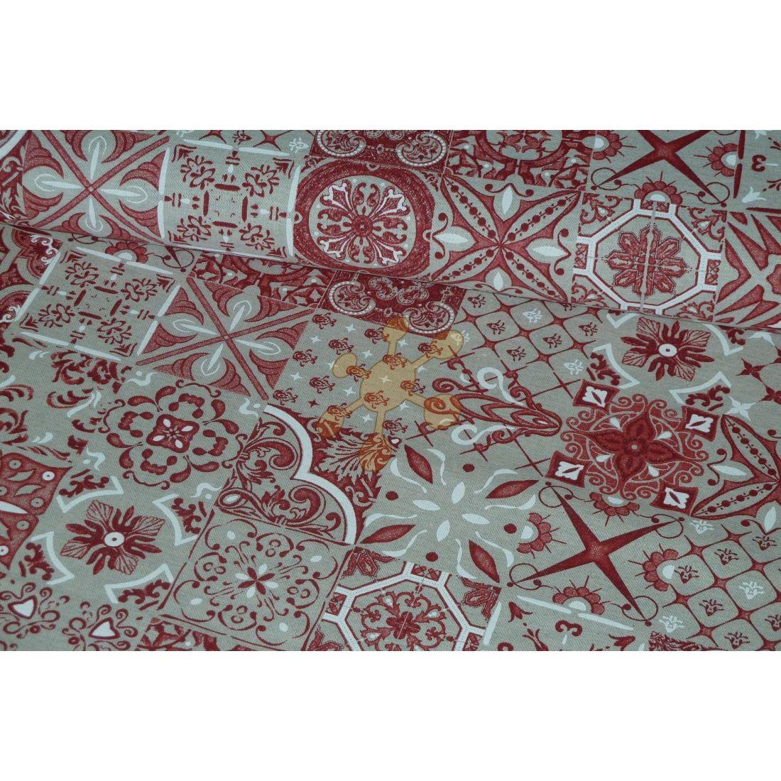 18642c3feaae slovab - LÁTKY VŠETKY - Patchwork červené kachličky